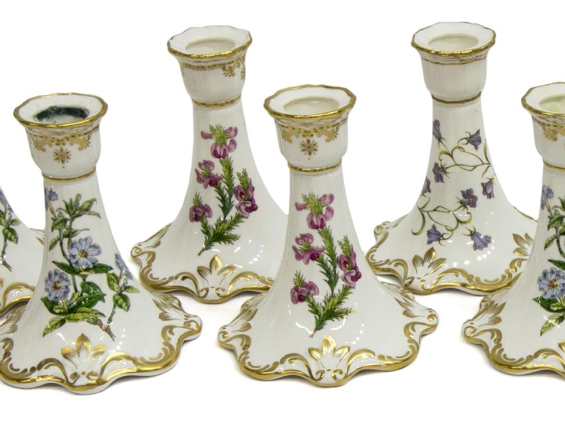 (10) SPODE CHINA CANDLESTICKS, 'STAFFORD FLOWERS' - 2