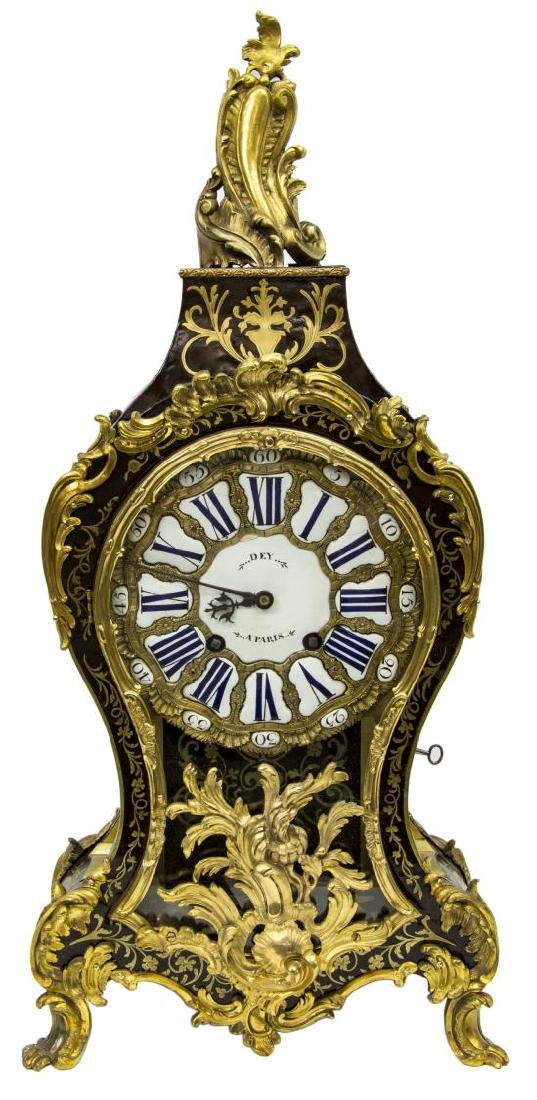 FRENCH LOUIS XV PERIOD BOULLE BRACKET CLOCK, DEY - 2