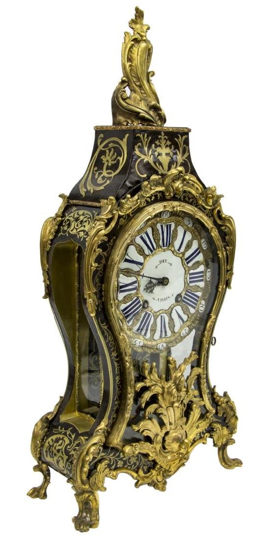 FRENCH LOUIS XV PERIOD BOULLE BRACKET CLOCK, DEY - 5