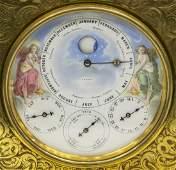 FRENCH PERT BALLY ONYX MANTEL CALENDAR CLOCK