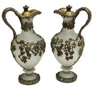 (2) ENGLISH MORTIMER & HUNT SILVER & GLASS EWERS