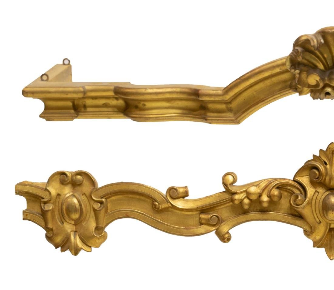 2) LOUIS XV STYLE GOLD LEAF ARCHITECTURAL VALENCES - 2