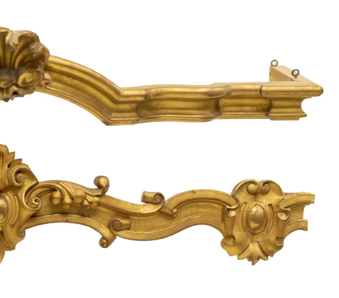 2) LOUIS XV STYLE GOLD LEAF ARCHITECTURAL VALENCES - 3