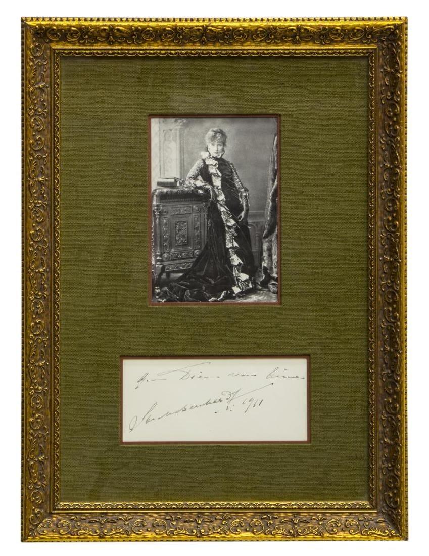 1911 AUTOGRAPH, SARAH BERNHARDT (1844-1923) - 2