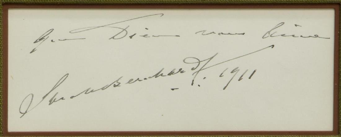 1911 AUTOGRAPH, SARAH BERNHARDT (1844-1923) - 4