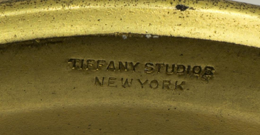 (PAIR) TIFFANY STUDIOS FAVRILE GLASS TRUMPET VASES - 7