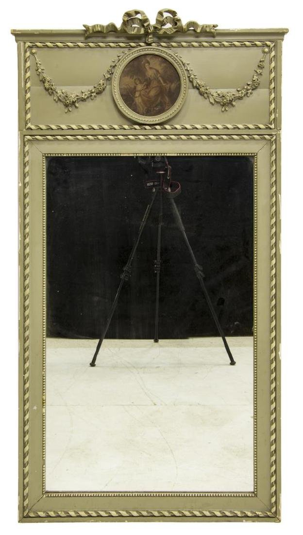 FRENCH PAINTED TRUMEAU WALL MIRROR - 2