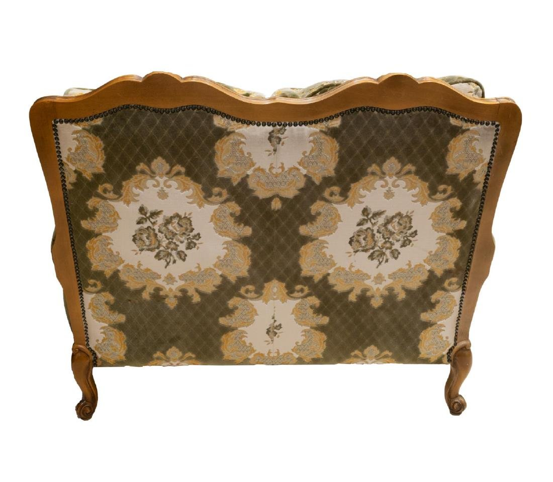 LOUIS XV STYLE SHELL CARVED UPOHOLSTERED SOFA - 3