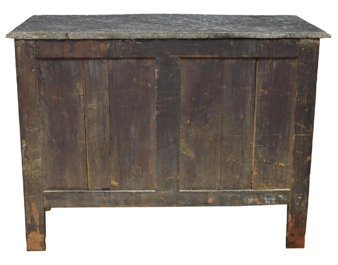 FRENCH LOUIS XIV MARBLE TOP OAK COMMODE - 3