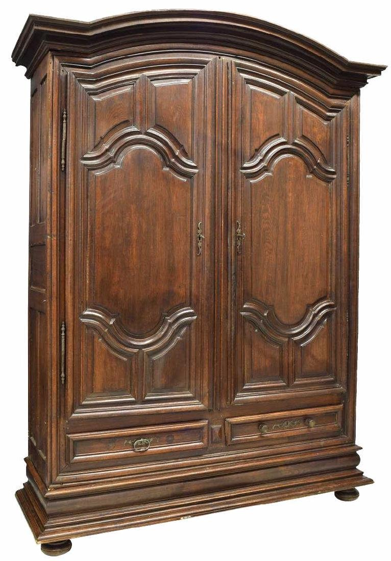 MONUMENTAL FRENCH LOUIS XIV STYLE OAK ARMOIRE