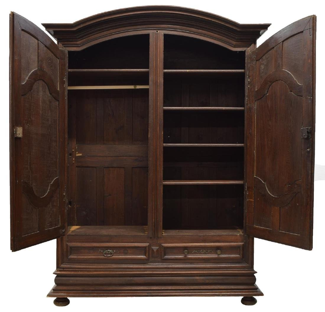 MONUMENTAL FRENCH LOUIS XIV STYLE OAK ARMOIRE - 3