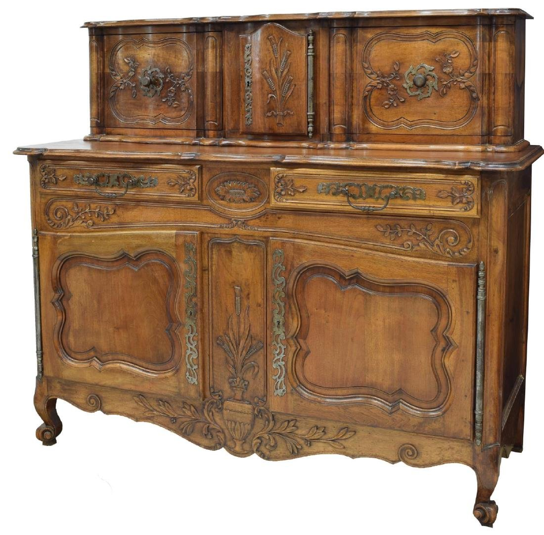 FRENCH LOUIS XV STYLE FOLIATE CARVED SIDEBOARD