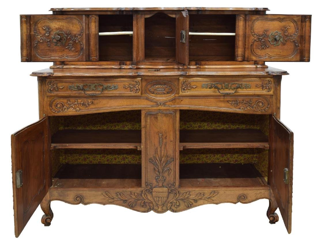FRENCH LOUIS XV STYLE FOLIATE CARVED SIDEBOARD - 2