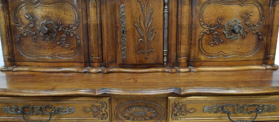 FRENCH LOUIS XV STYLE FOLIATE CARVED SIDEBOARD - 3