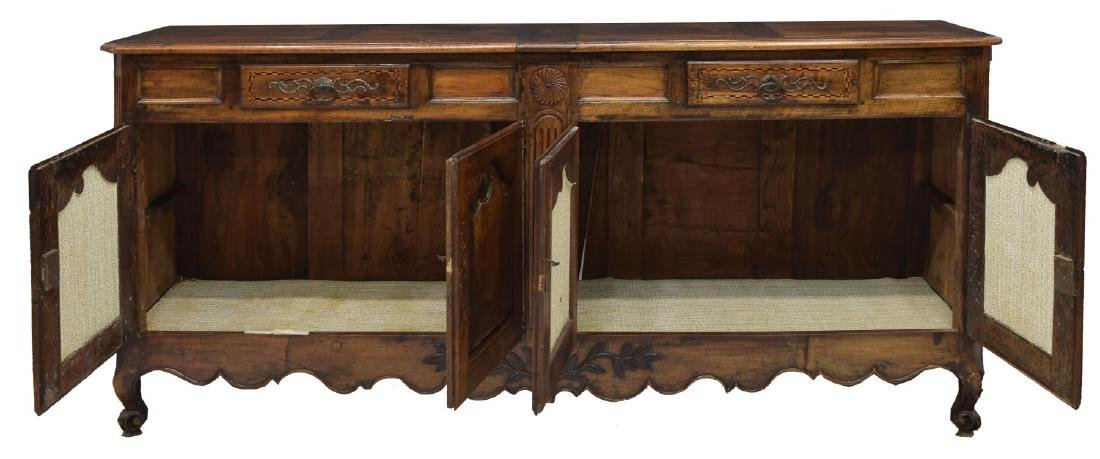 LOUIS XV STYLE PARQUETRY FOLIATE CARVED SIDEBOARD - 2