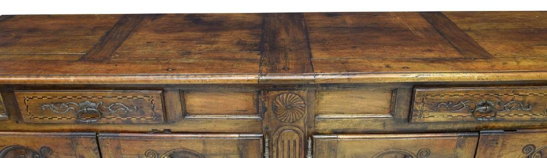 LOUIS XV STYLE PARQUETRY FOLIATE CARVED SIDEBOARD - 3