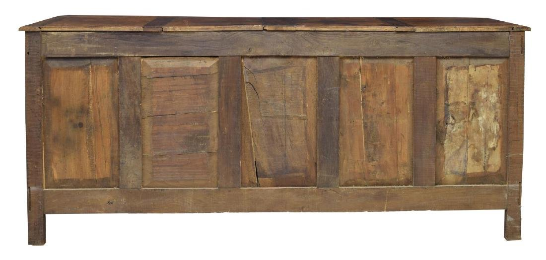 LOUIS XV STYLE PARQUETRY FOLIATE CARVED SIDEBOARD - 4