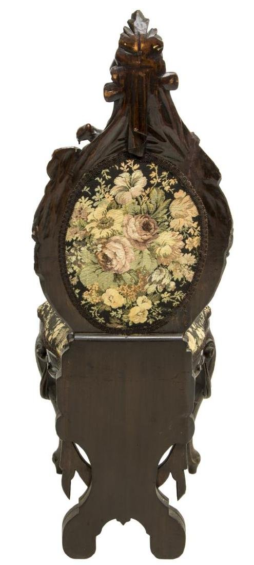 WELL CARVED ITALIAN BAROQUE STYLE HALL SIDE CHAIR - 4