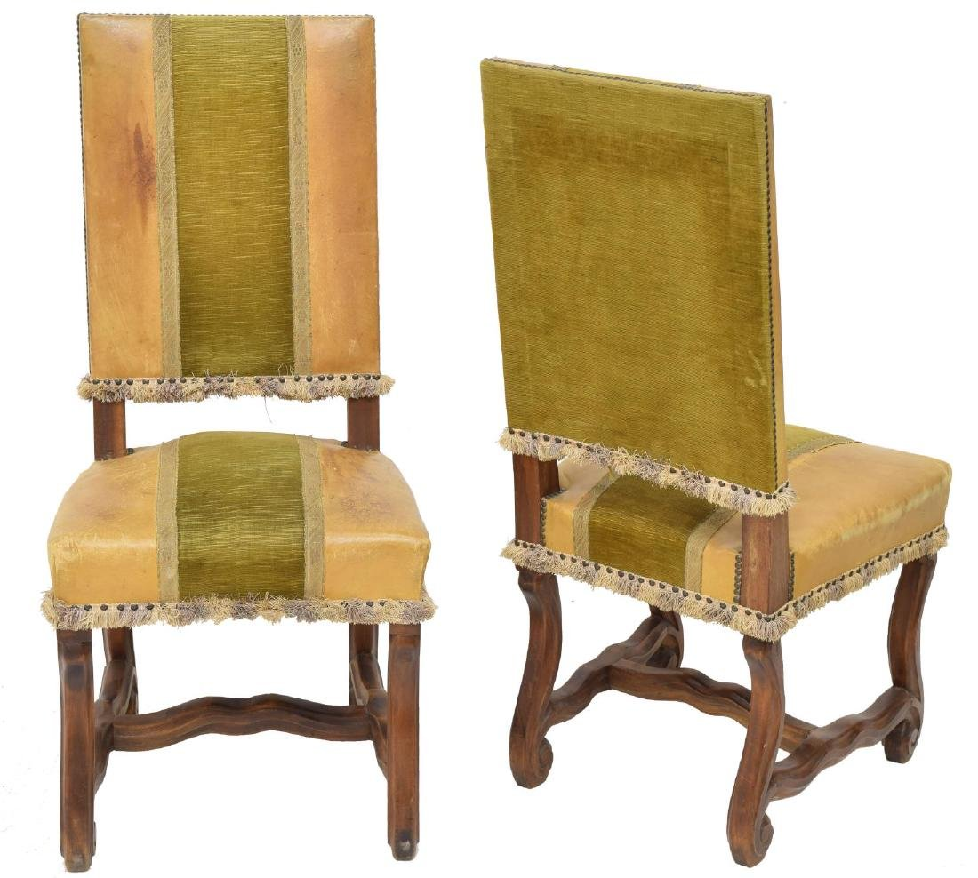 (6) SPANISH UPHOLSTERED & WOOD SIDE CHAIRS - 2