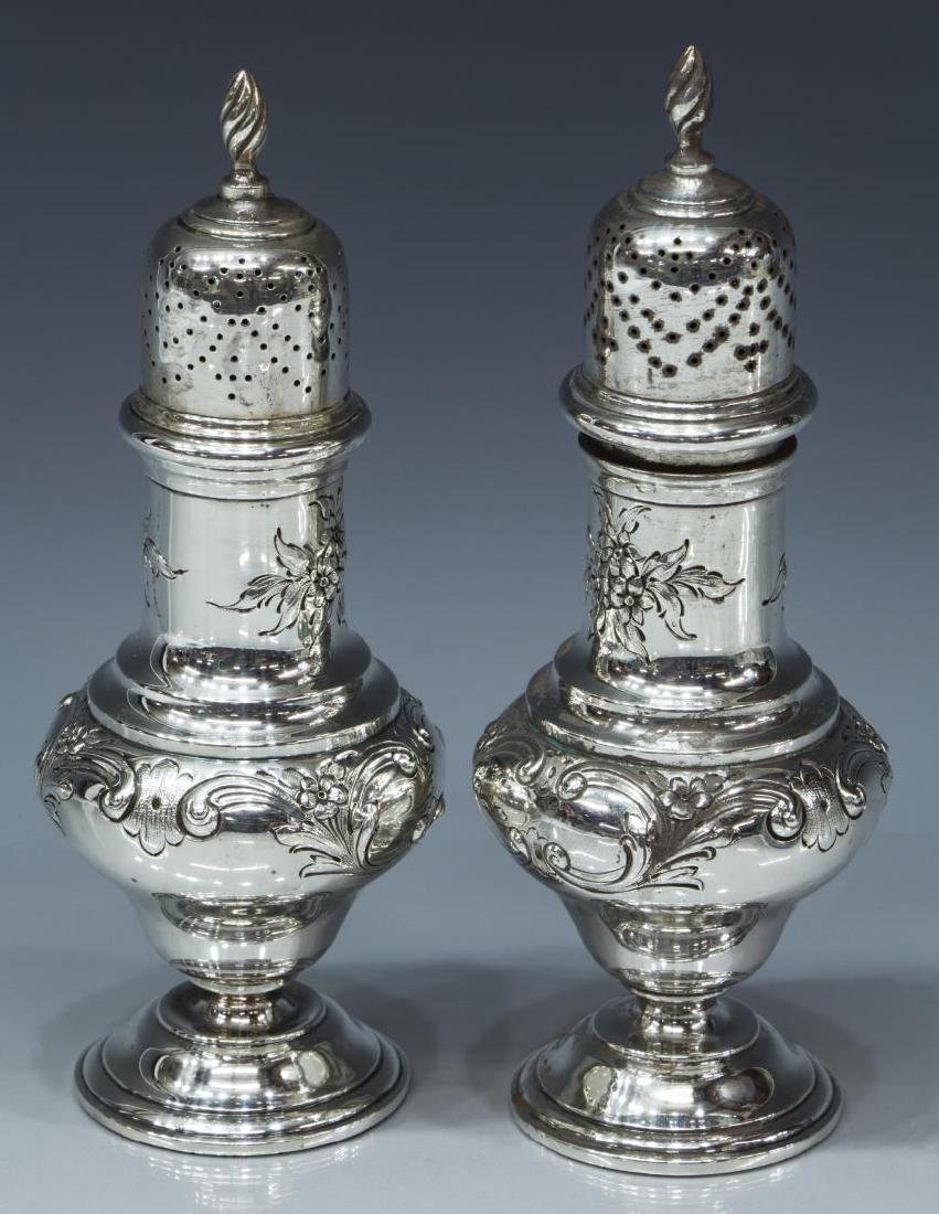 (PAIR) SHREVE & CO. STERLING SILVER SUGAR SHAKERS - 2