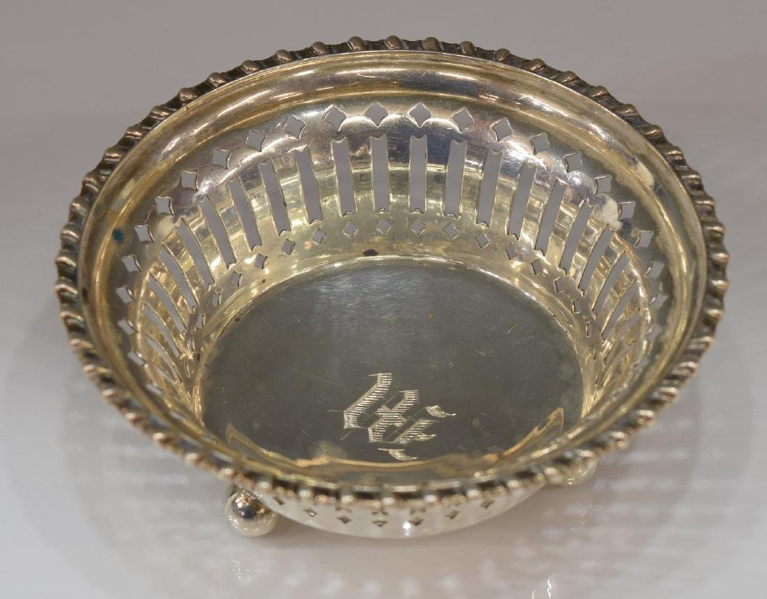 (11) STERLING SILVER PIERCED NUT DISHES - 2
