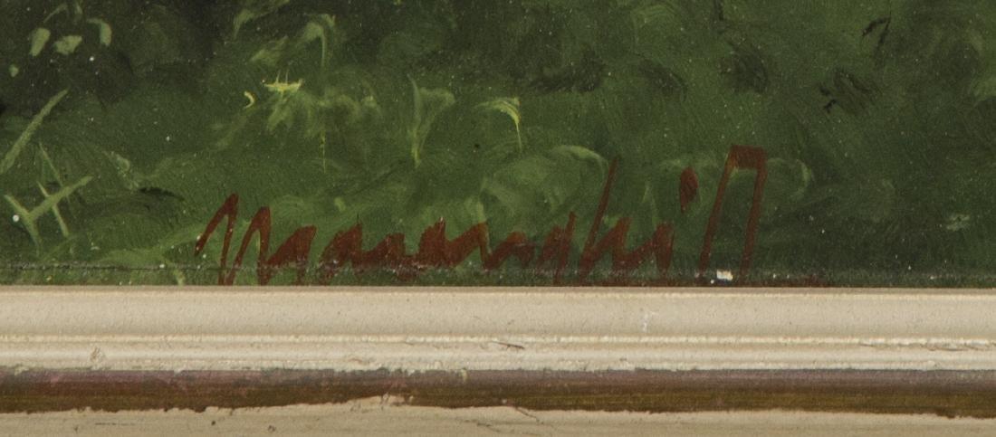 FRAMED ITALIAN OIL ON BOARD PAINTING, SIGNED - 4
