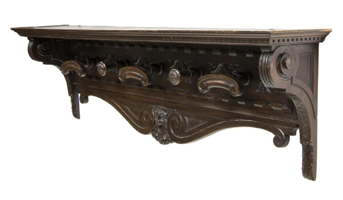 LARGE RENAISSANCE REVIVAL CARVED HAT RACK