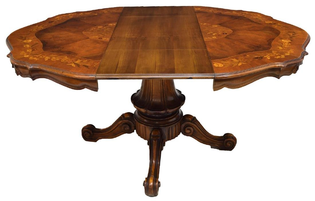 ITALIAN FLORAL MARQUETRY INALY DINING TABLE - 3