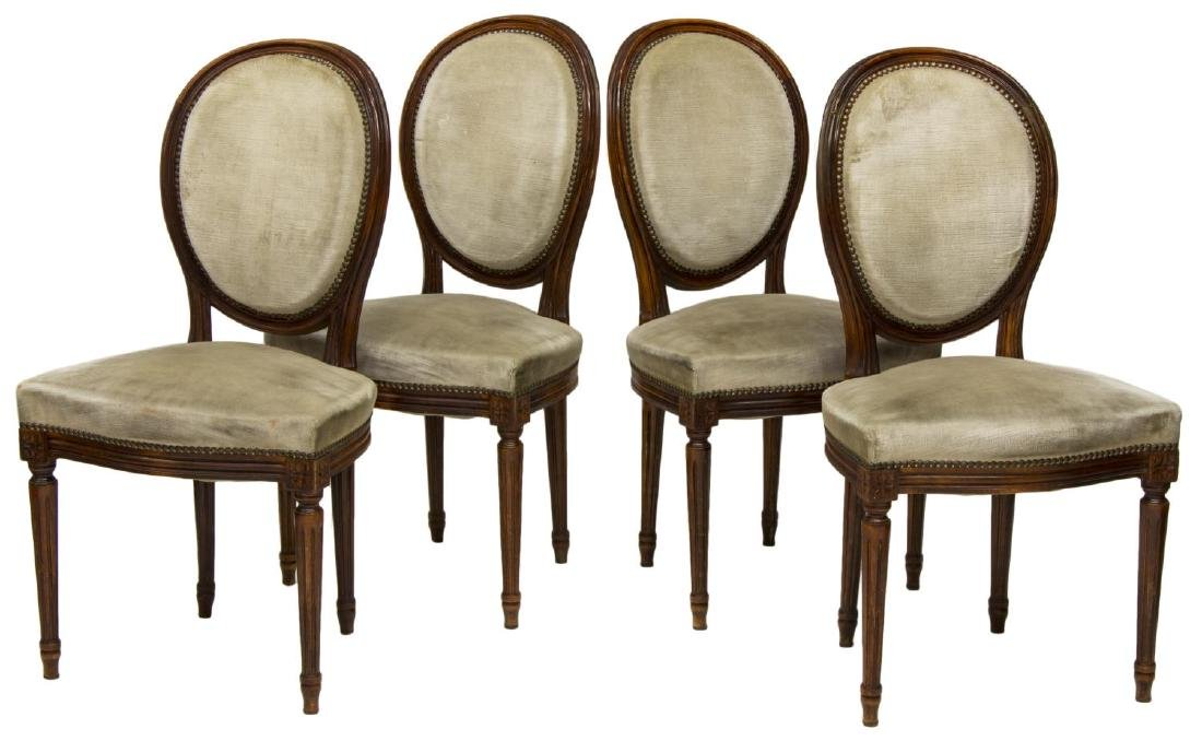 (4) ITALIAN LOUIS XVI STYLE SIDE OR DINING CHAIRS