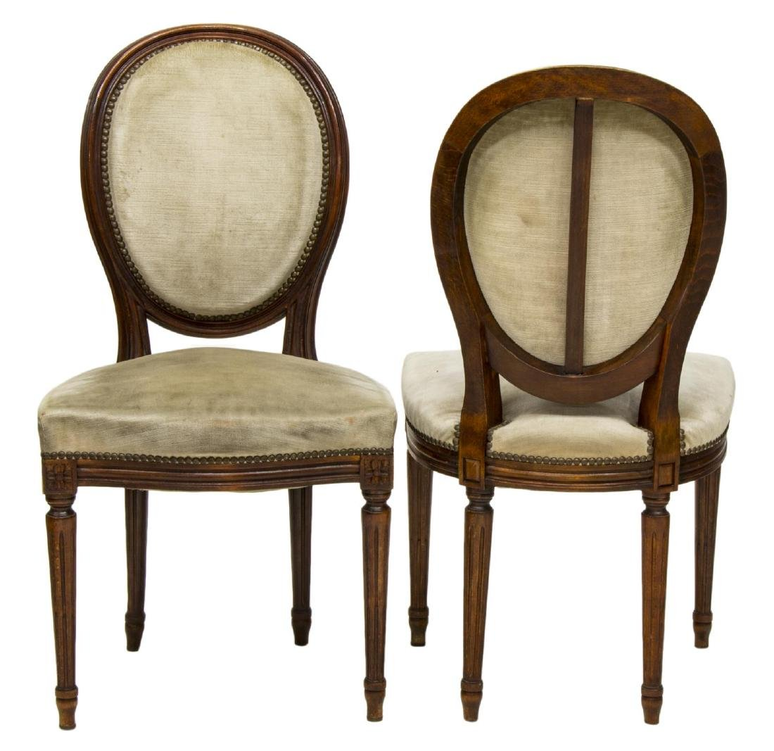 (4) ITALIAN LOUIS XVI STYLE SIDE OR DINING CHAIRS - 2