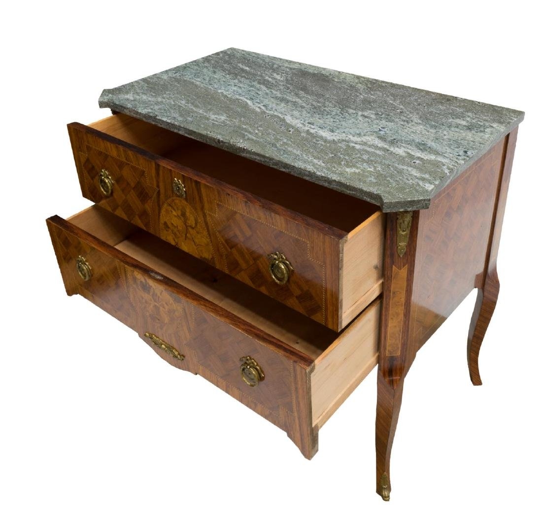 VINTAGE LOUIS XV STYLE MARQUETRY CHEST OF DRAWERS - 3