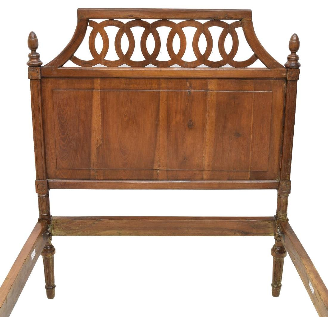 VINTAGE ITALIAN WALNUT BED W/ PIERCED HEADBOARD - 2