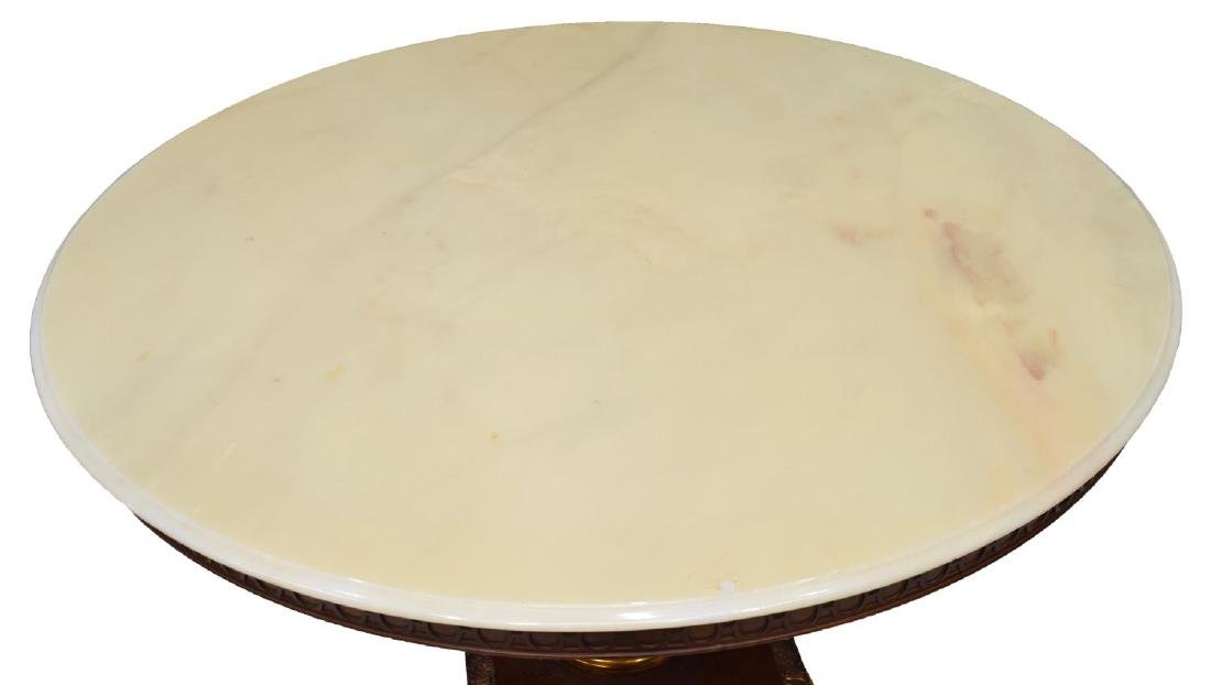 FRENCH EMPIRE STYLE MARBLE TOP DINING TABLE - 3