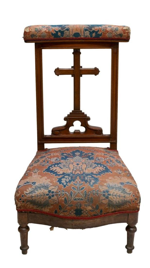 FRENCH CROSS KNEELER/ PRAYER CHAIR - 2