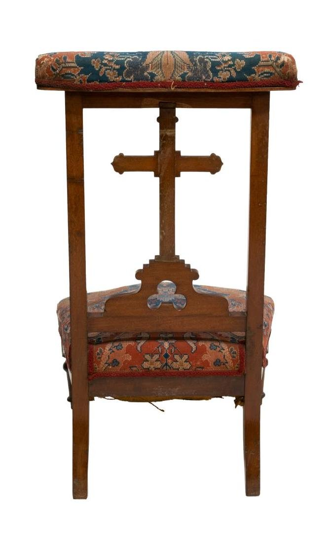 FRENCH CROSS KNEELER/ PRAYER CHAIR - 3