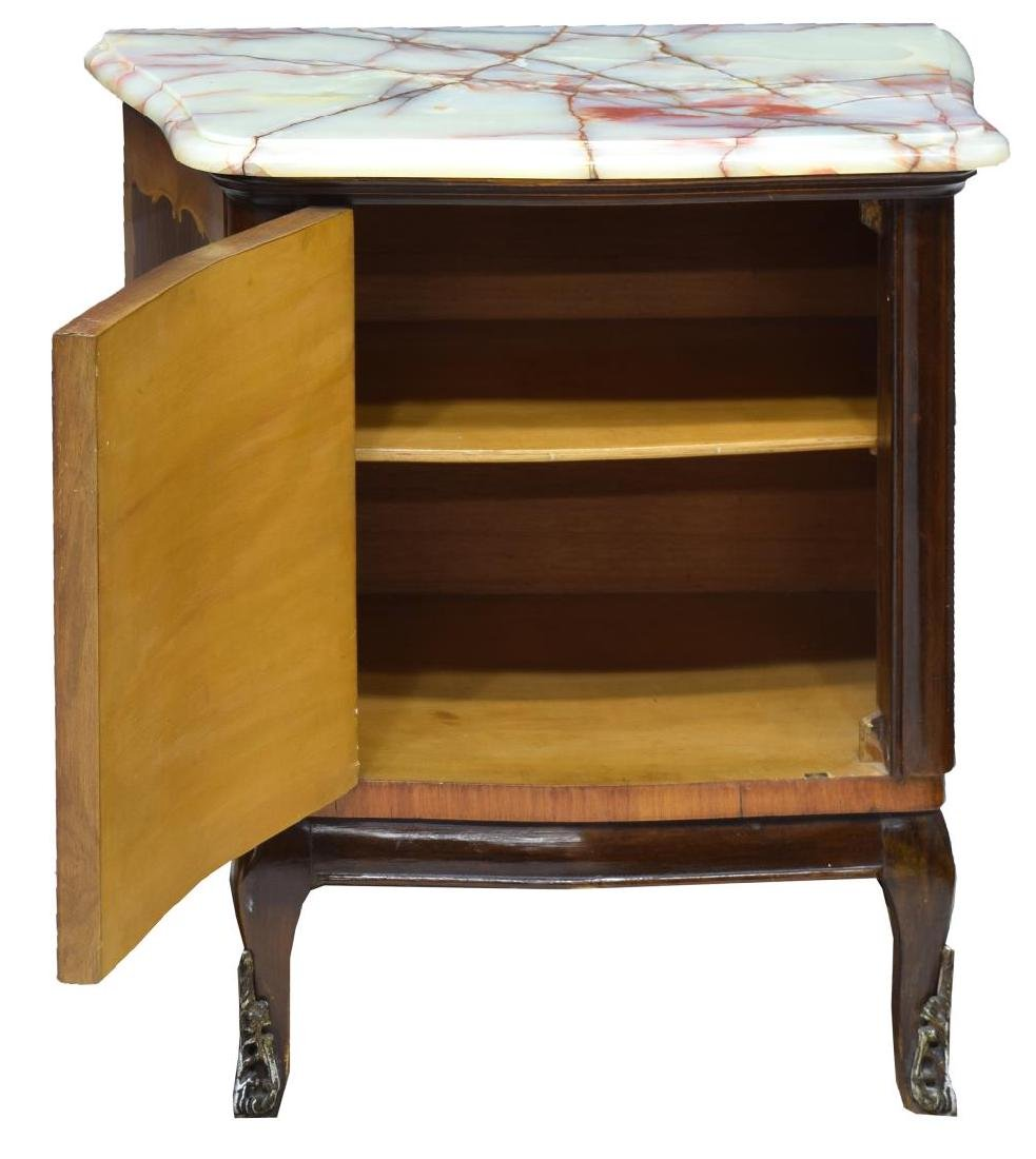 (2) LOUIS XV STYLE MARQUETRY WALNUT SIDE CABINET - 2