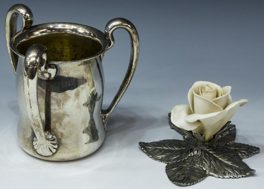 (2) GROUP OF STERLING SILVER & PEWTER CABINETWARE - 2