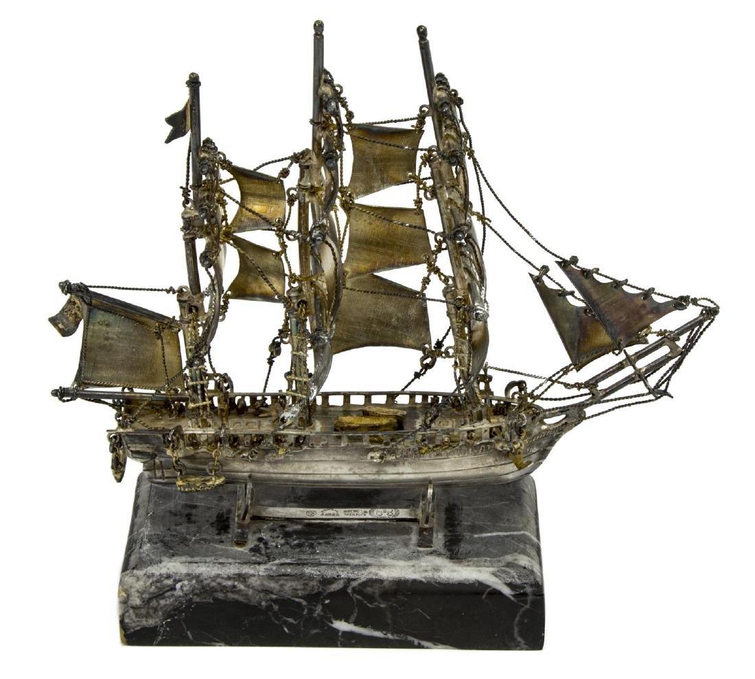 LOS BALLESTEROS MEXICO STERLING SILVER SHIP MODEL - 3
