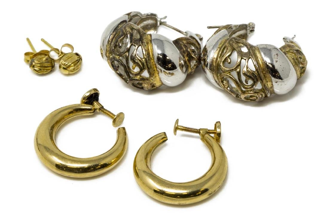 (LOT) ESTATE 14KT GOLD & STERLING JEWERLY GROUP - 2