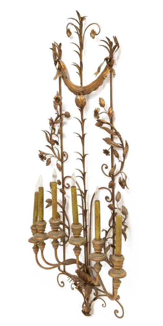 SCROLLED IRONWORK SIX-LIGHT WALL SCONCE - 2