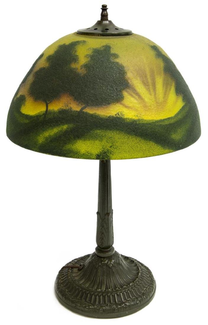 REVERSE PAINTED SUNRISE 2 LIGHT TABLE LAMP - 2