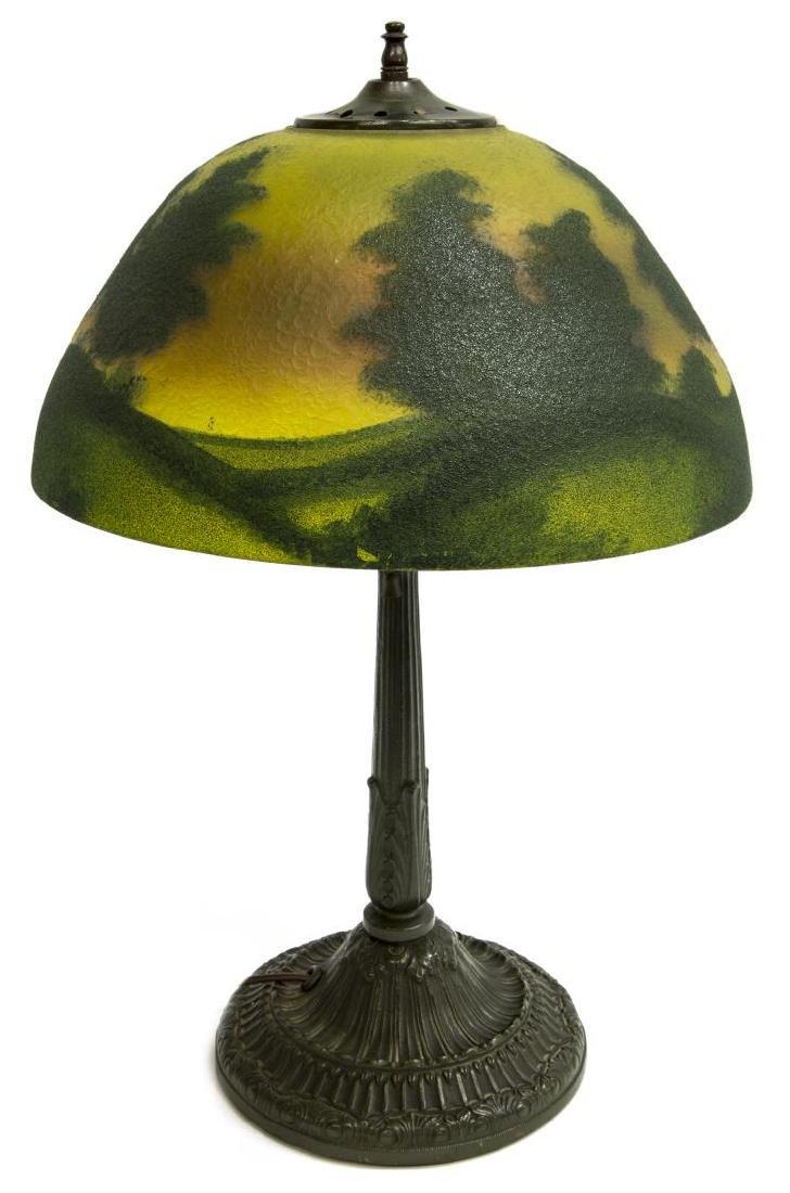 REVERSE PAINTED SUNRISE 2 LIGHT TABLE LAMP - 3