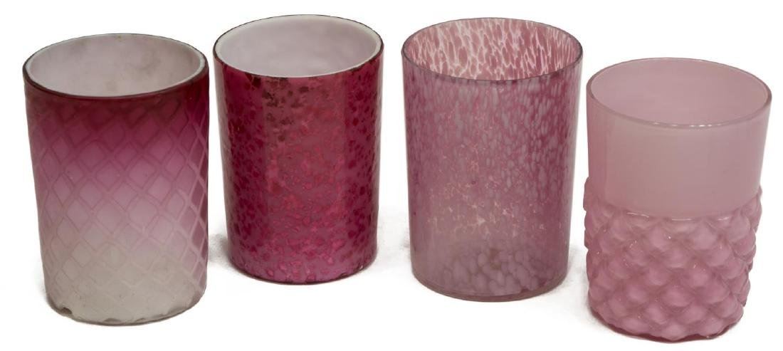 11) VICTORIAN ART GLASS TUMBLERS & BOHEMIAN GOBLET - 4
