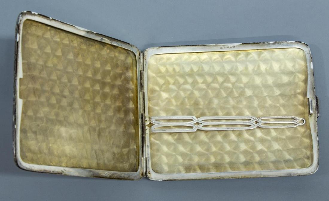 14K GOLD & STERLING SILVER CIGARETTE CASE - 3