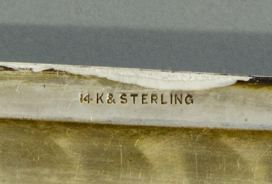 14K GOLD & STERLING SILVER CIGARETTE CASE - 4