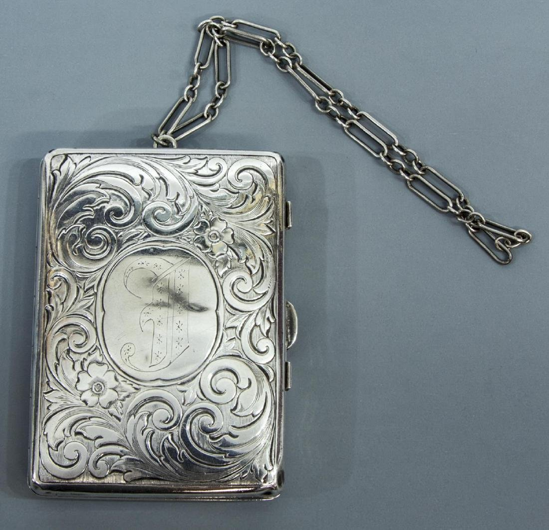 STERLING SILVER COMPACT WALLET ON CHAIN