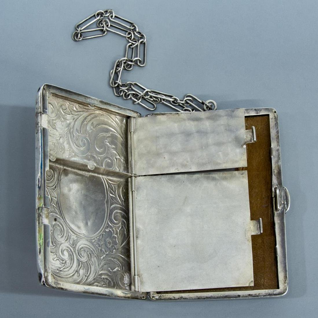 STERLING SILVER COMPACT WALLET ON CHAIN - 3