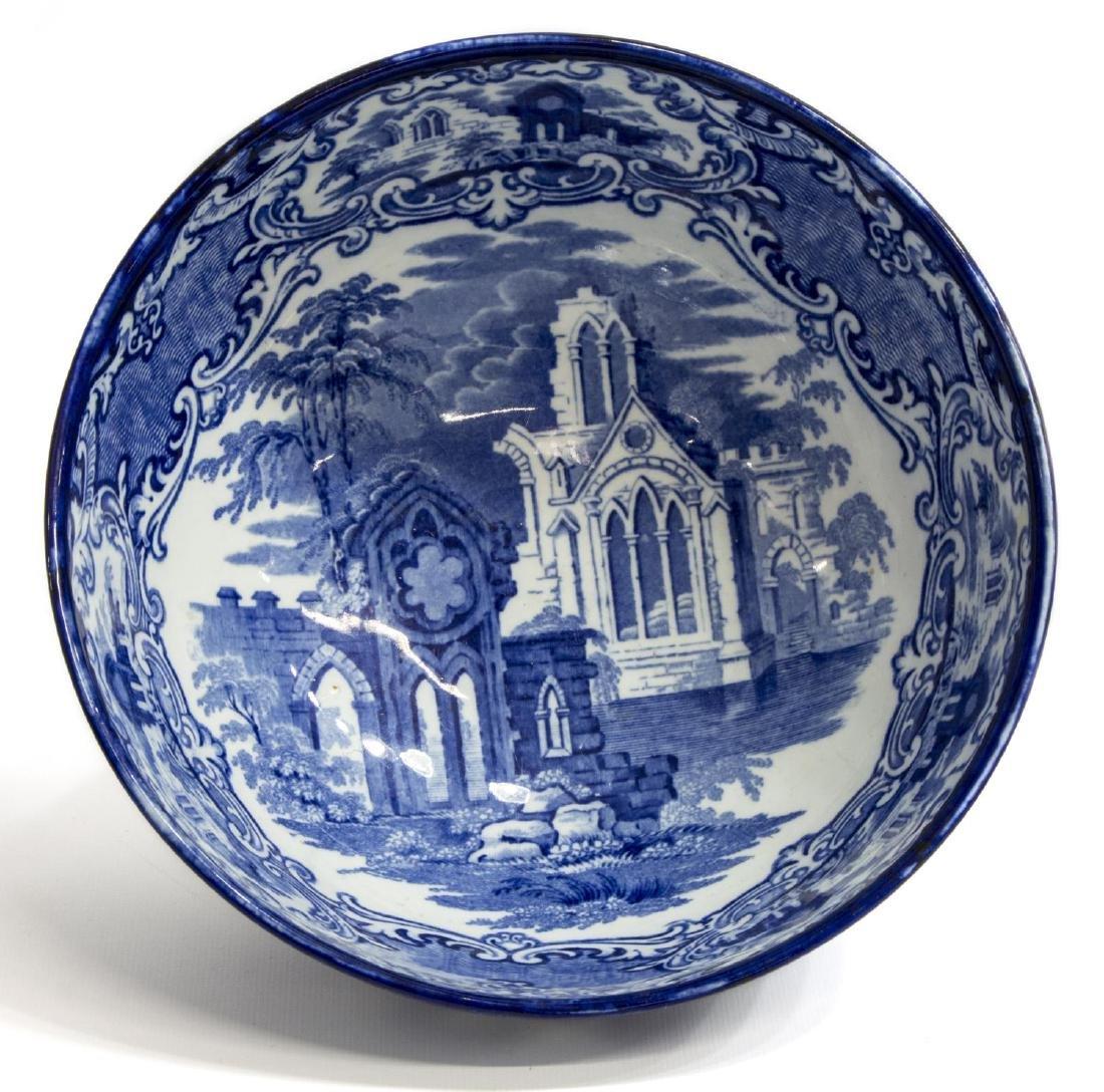 (11) ENGLISH STAFFORDSHIRE BLUE TRANSFERWARE - 2