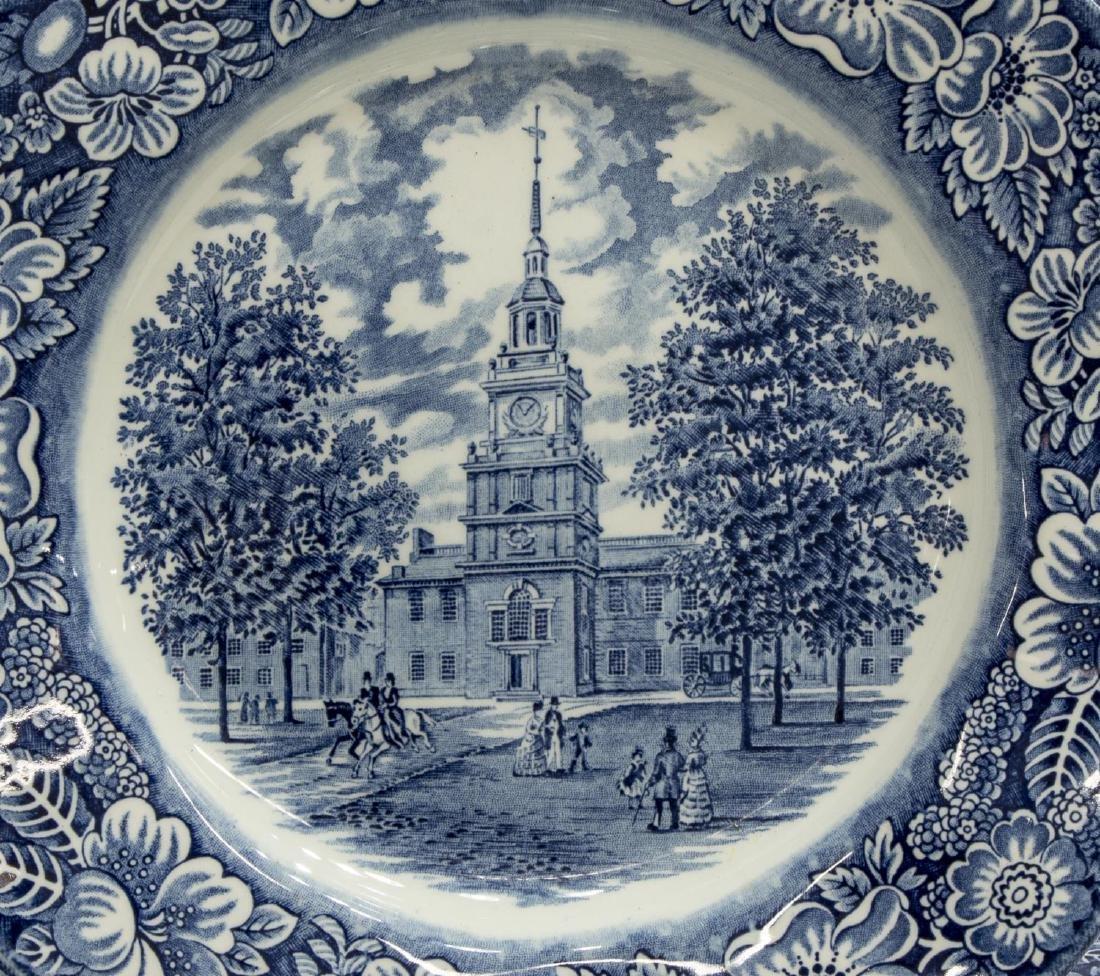 (11) ENGLISH STAFFORDSHIRE BLUE TRANSFERWARE - 3