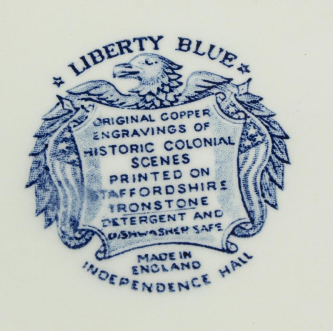 (11) ENGLISH STAFFORDSHIRE BLUE TRANSFERWARE - 4